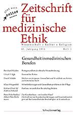 Zeitschrift für medizinische Ethik